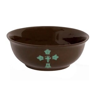 HiEnd Accents Cross Serving Bowl Turquoise