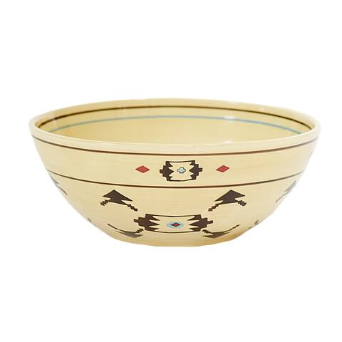 HiEnd Accents Artesia Bohemian Aztec Inspired Serving Bowl
