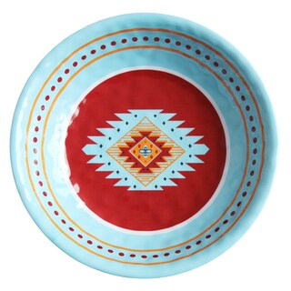 HiEnd Accents Southwest Multicolored Melamine 13.75-inch Diameter Serving Bowl (12-piece case)