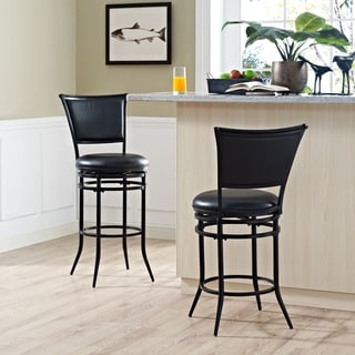 Hendrix Walnut And Black Beech Wood Barstool Free