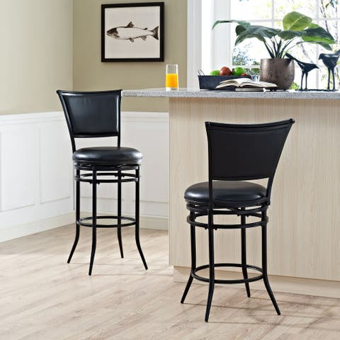 Rachel Black Swivel Bar Stool