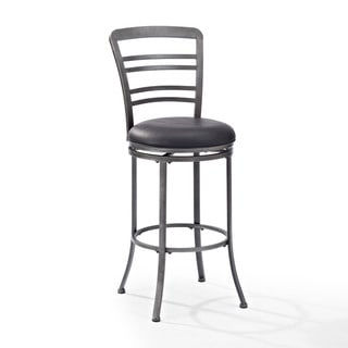 Crosley Furniture Shelburne Grey Metal Swivel Bar Stool