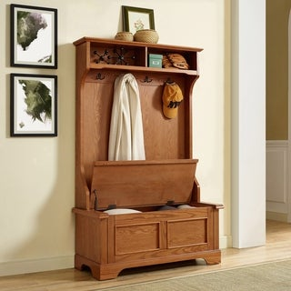 Campbell Hall Tree in Oak Finish