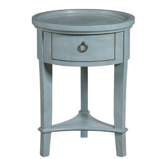Donna Textured Finished Round Accent Table