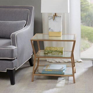 Madison Park Zoey Antique Gold Accent Table