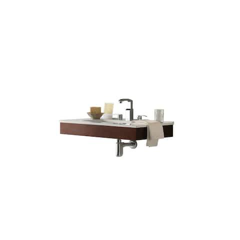 Ronbow Adina 33-inch Wall Mount Bathroom Vanity Set With Ceramic Sinktop