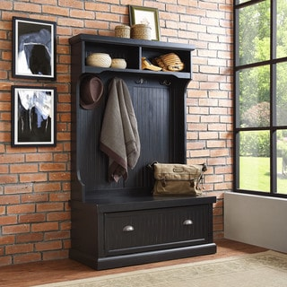 Link to Seaside Hall Tree- Distressed Black Similar Items in Home Office Furniture