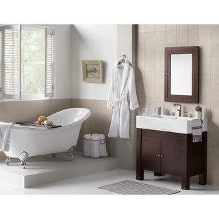 Ronbow Devon 37-inch Bathroom Vanity Set with Ceramic Sinktop and Wood Cabinets