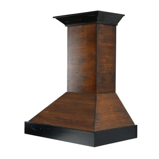 ZLINE 30 in. Wooden Wall Mount Range Hood in Antigua and Walnut - Includes 760 CFM Motor (KBAR-30)