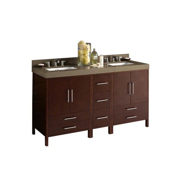 Ronbow Juno 61 Inch Double Bathroom Vanity Set With Ceramic Sink And Medicine Cabinet