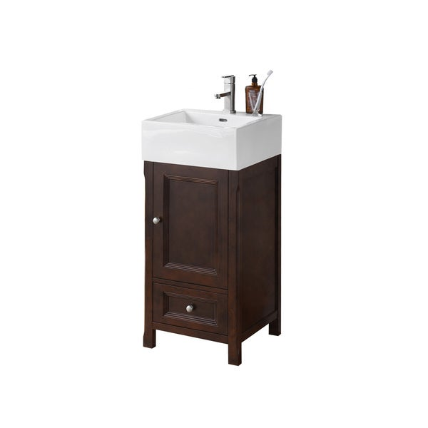 Ronbow Juliet Ceramic Sink 18-inch Bathroom Vanity Set