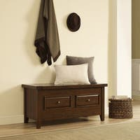 Sienna Storage Bench in Rustic Mahogany