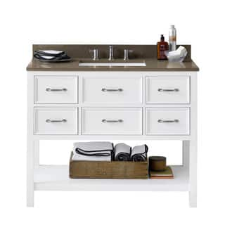 Ronbow Newcastle White Wood/Ceramic 43-inch Bathroom Vanity Set With Sink|https://ak1.ostkcdn.com/images/products/15974870/P22371360.jpg?impolicy=medium