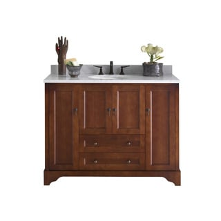 Ronbow Milano Cherry Wood 49-inch Bathroom Vanity Set with Ceramic Sink