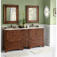 Ronbow Milano 73-inch Double Bathroom Vanity Set With Ceramic Sink and Medicine Cabinet