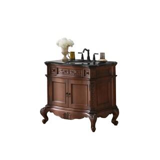 Ronbow Bordeaux Cherry Wood 37-inch Bathroom Vanity Set with Ceramic Sink