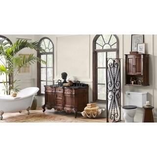 Ronbow Bordeaux Brown Wood/Ceramic Double Bathroom Vanity Set