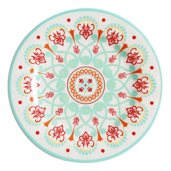 HiEnd Accents Western Multicolored Melamine Dinner Plate (Set of 4)  sc 1 st  Overstock.com & HiEnd Accents Western Multicolored Melamine Dinner Plate (Set of 4 ...