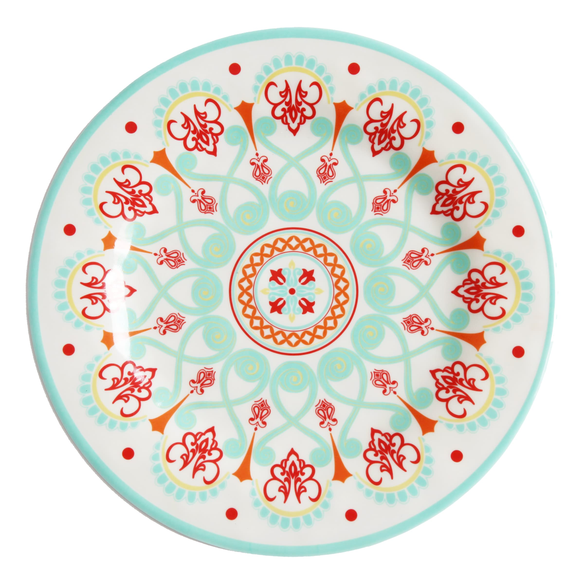 HiEnd Accents Western Multicolored Melamine Dinner Plate ...