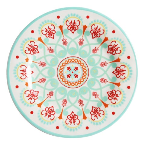HiEnd Accents Western Multicolored Melamine Dinner Plate (Set of 4)