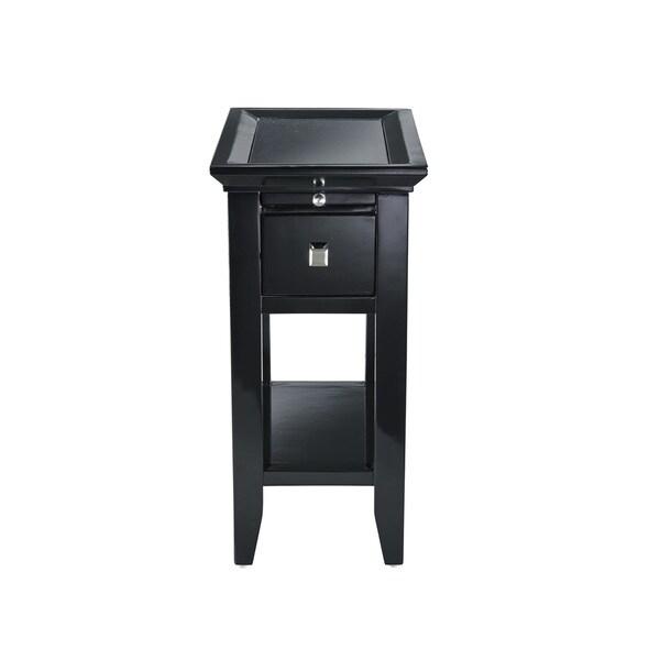 Muriel Black Granite Top End Table