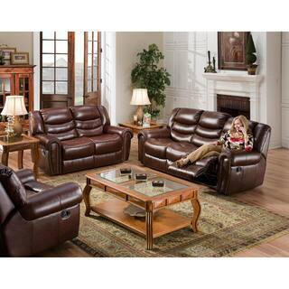 burgundy living room furniture. Cambridge Lancaster Three Piece Living Set  Sofa Loveseat Recliner Burgundy Room Furniture Sets For Less Overstock com