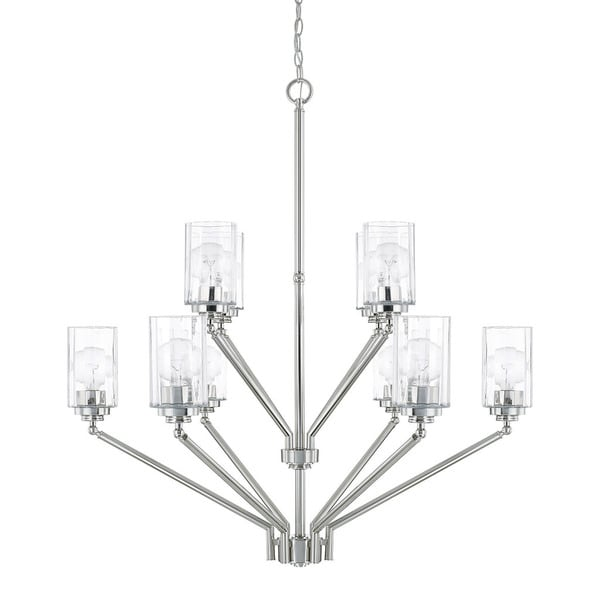 Capital Lighting Camden Collection 10-light Polished Nickel Chandelier