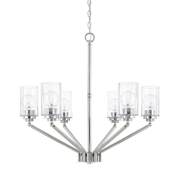 Capital Lighting Camden Collection 6-light Polished Nickel Chandelier
