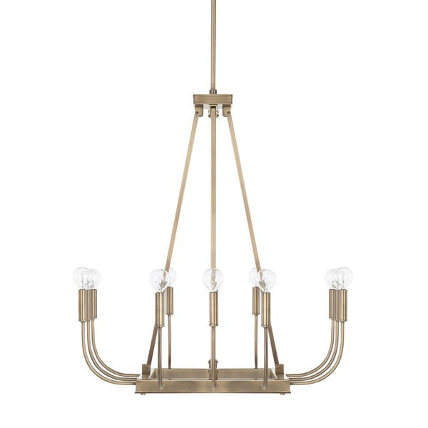 Capital Lighting Zander Collection 12-light Aged Brass Chandelier