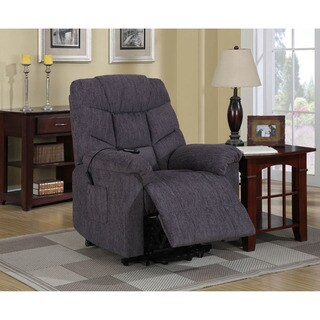 Cambridge Chester Blue Twill 2-way Lift Recliner