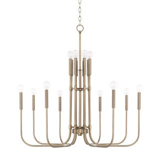 Capital Lighting Zander Collection 16-light Aged Brass Chandelier
