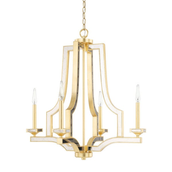 Capital Lighting Abella Collection 4-light Capital Gold Chandelier