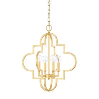 Capital Lighting Ellis Collection 4-light Capital Gold Pendant