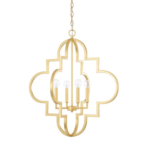 Capital Lighting Ellis Collection 4-light Capital Gold Pendant