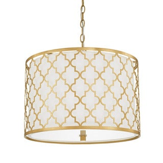 Capital Lighting Ellis Collection 3-light Capital Gold Pendant