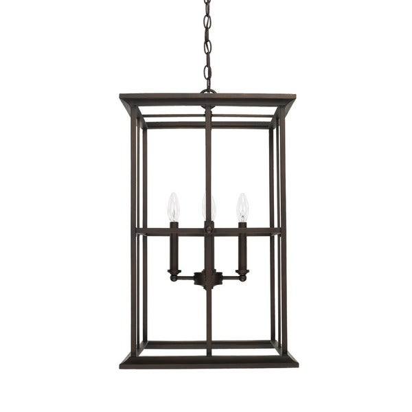 Capital Lighting West Port Collection 4-light Old Bronze Foyer Pendant