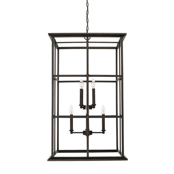 Capital Lighting West Port Collection 8-light Old Bronze Foyer Pendant