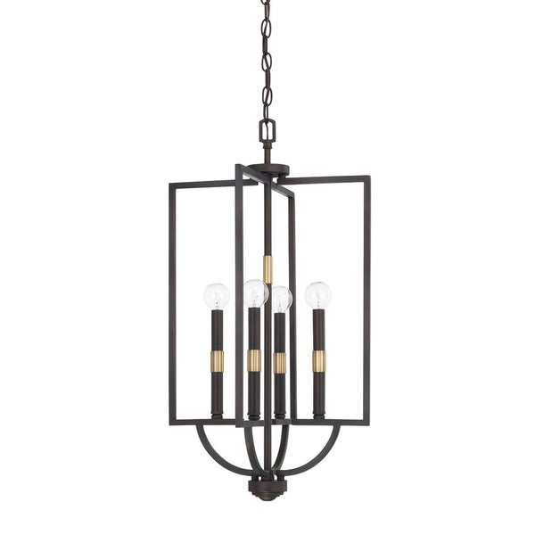 Capital Lighting Cole Collection 4-light Aged Brass/ Old Bronze Foyer Pendant