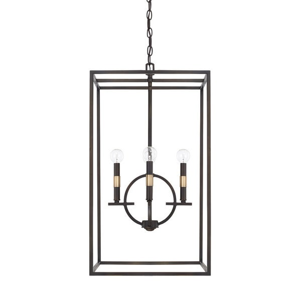 Capital Lighting Cole Collection 4-light Aged Brass/Old Bronze Foyer Pendant