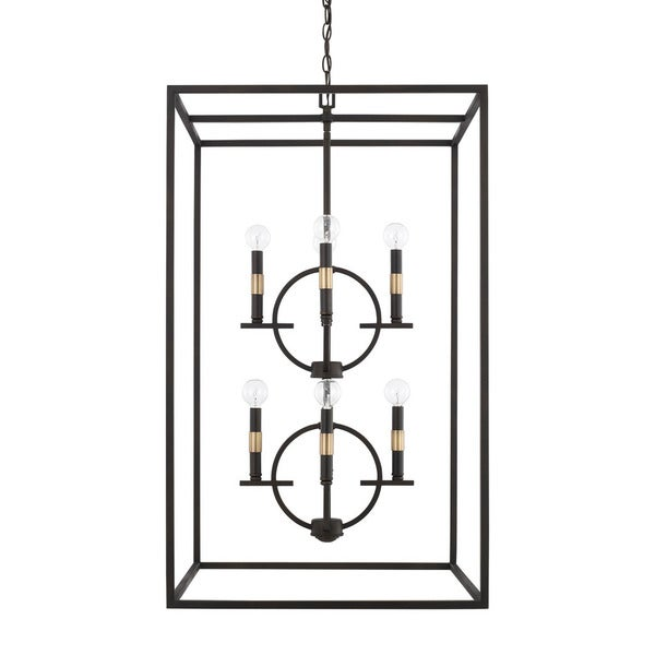 Capital Lighting Cole Collection 8-light Aged Brass/Old Bronze Foyer Pendant