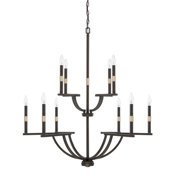 Capital Lighting Cole Collection 10-light Aged Brass/Old Bronze Chandelier