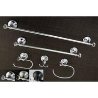 Crystal 5-piece Bathroom Accessory Set