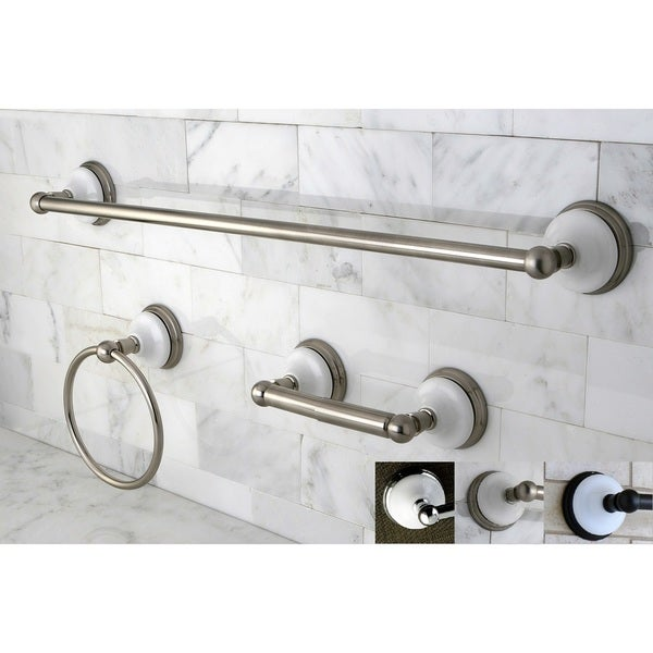 Shop Victorian 3 Piece Bathroom Accessory Set Free Shipping Today 15974970