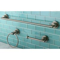 Modern 3-piece Satin Nickel Bathroom Accessory Set