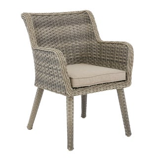 Madison Park Dana Grey/ Sand Outdoor Arm Chair Set of 2