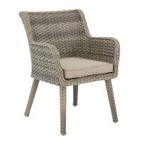 Madison Park Dana Grey/ Sand Outdoor Arm Chair Set of 2