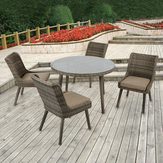 Madison Park Dana Grey/ Sand Outdoor Side Chair Set of 2