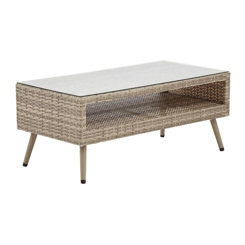 INK+IVY Avery Light Grey Outdoor Coffee Table