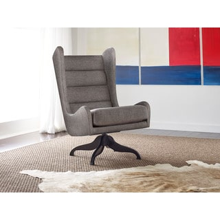 Tommy Hilfiger Helios Swivel Chair with Wingback Profile and Four-Star Base
