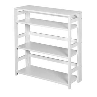 Regency Seating Flip Flop White Rubberwood 34-inch Folding Bookcase
